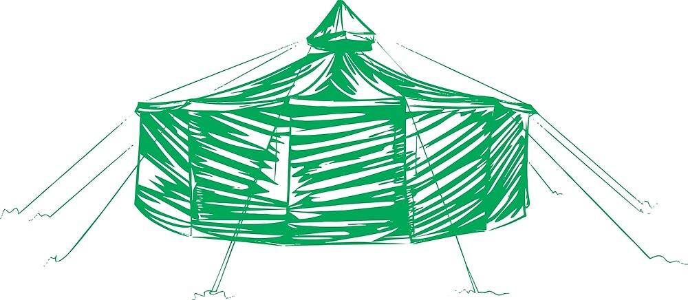 Yurt green by celtic2010