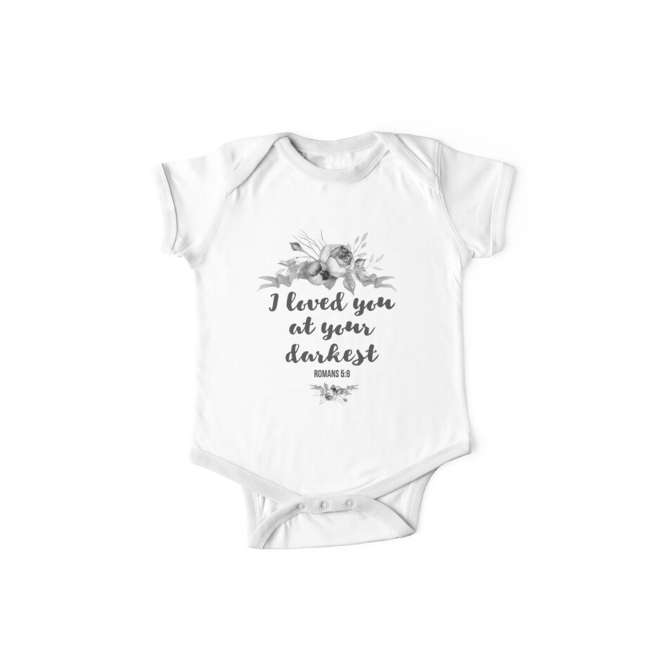 Christian quote i loved you cute floral design