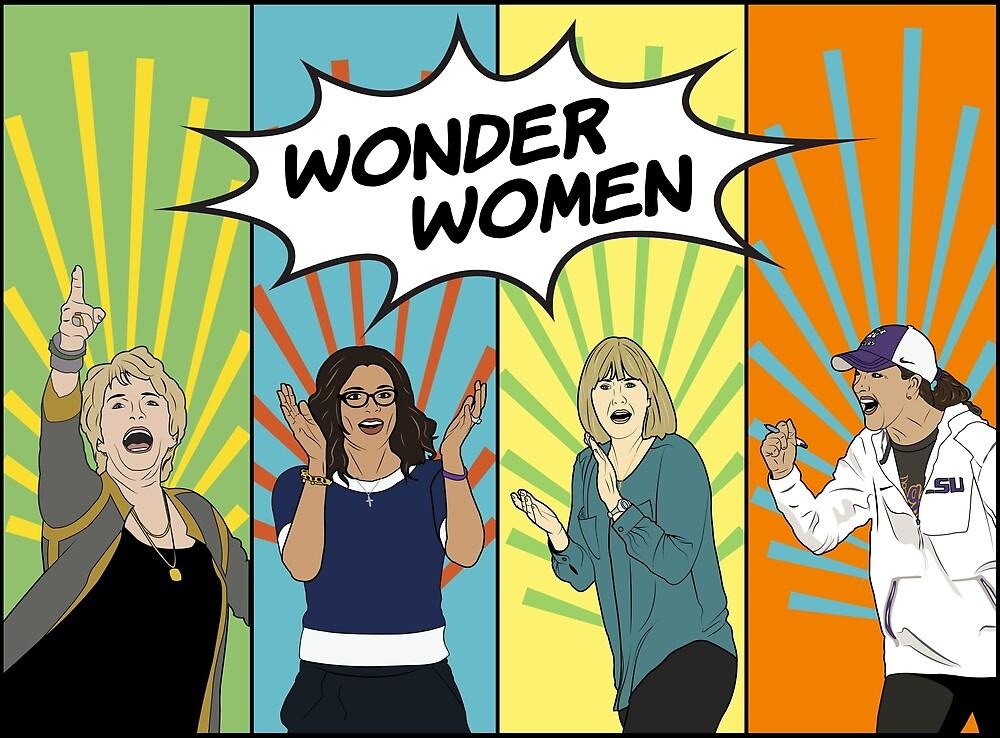 Wonder Women - LSU Female Coaches by Ha-Vy Nguyen