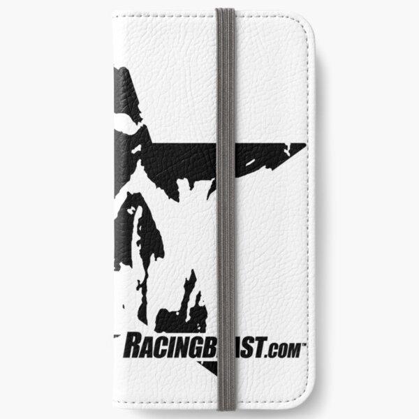 Logo Racingbeast.com (black) iPhone Flip-Case