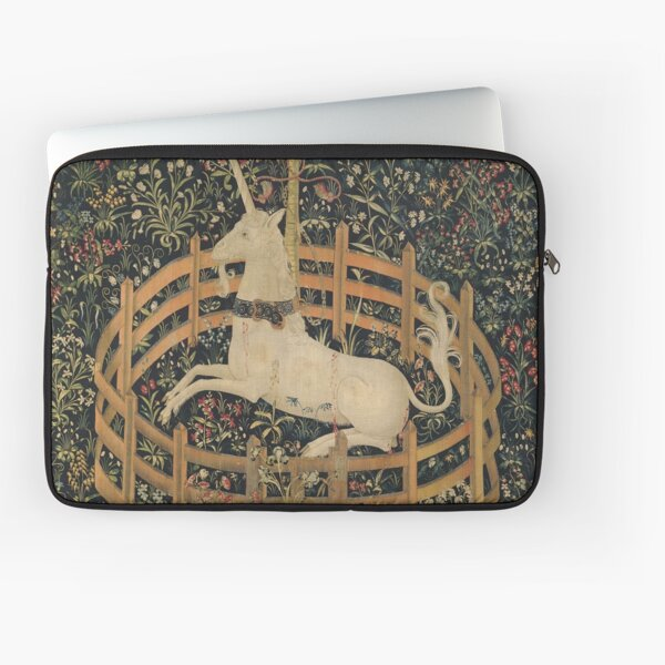 Vintage Fenced in Unicorn Painting (1505) Laptop Sleeve