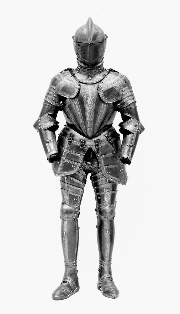 Knight's Silver Battle Armor Photograph (1580) by BravuraMedia
