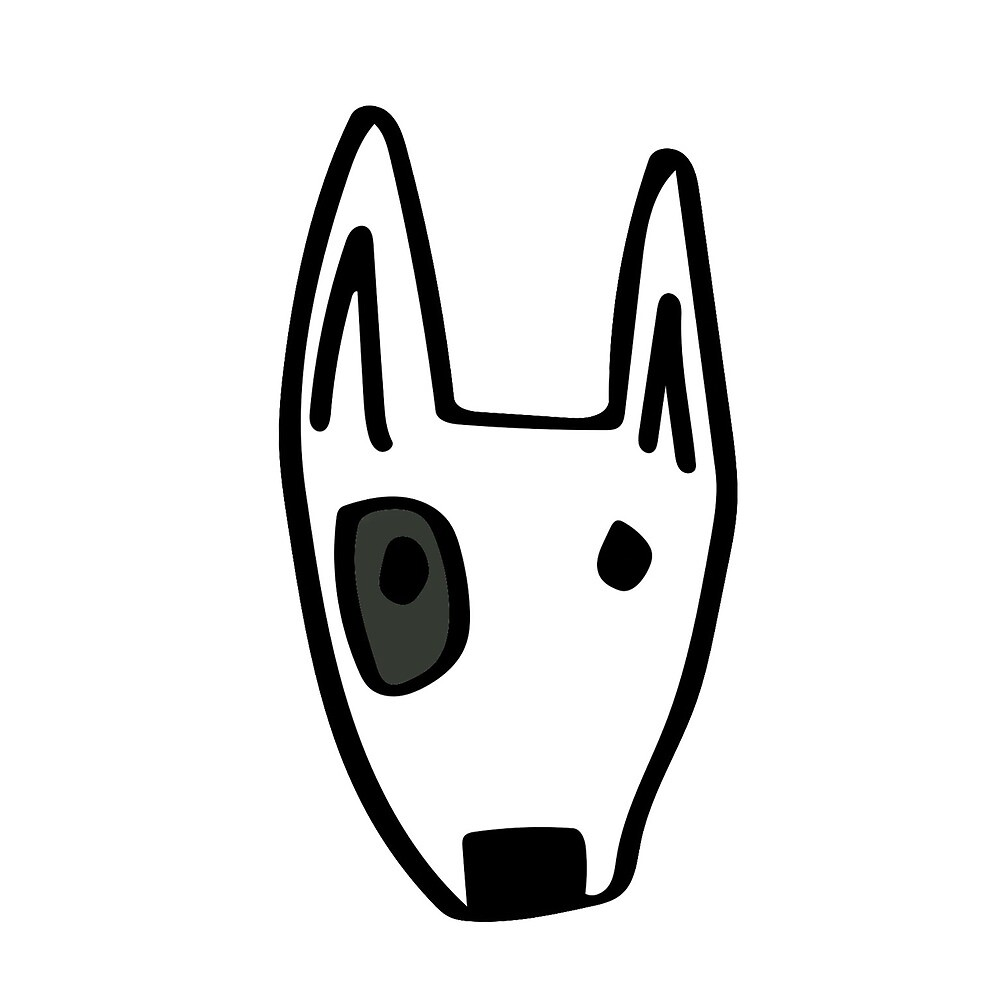 Black eyed dog by paperclipenguin