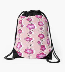 Raspberry Pink Wildflower Drawstring Bag