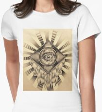 """""""Iris""""   Pointillism mixedmedia Women's Fitted T-Shirt"""
