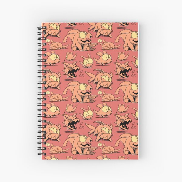 Chewster - Land Sharks - Orange Pattern Spiral Notebook
