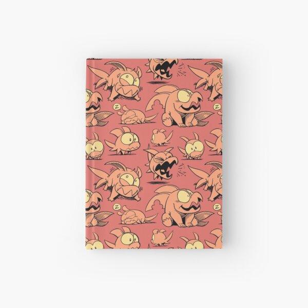 Chewster - Land Sharks - Orange Pattern Hardcover Journal