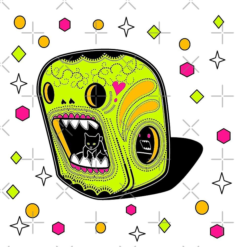 Day Glo Sugar Skull by Riccivela