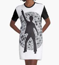 Disco Graphic T-Shirt Dress