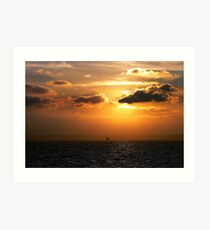 Ferry Crossing from Calais to Dover Art Print
