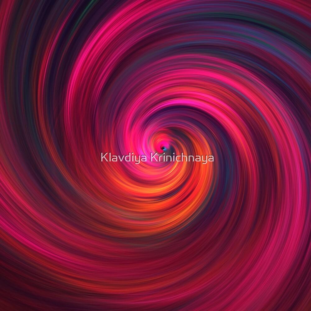 Red vortex by Klavdiya Krinichnaya