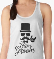 Funny Vintage Team Groom Bachelor Party Wedding Marriage Stag Do Gift Women's Tank Top