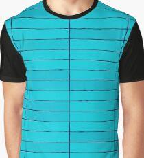 Blue Stone Tiles Texture Graphic T-Shirt