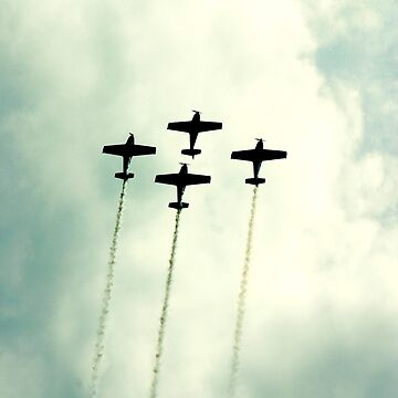 4 airplanes on exhibition by p-insolito