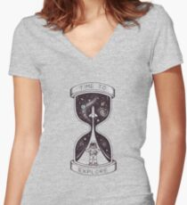 Time to Explore Women's Fitted V-Neck T-Shirt