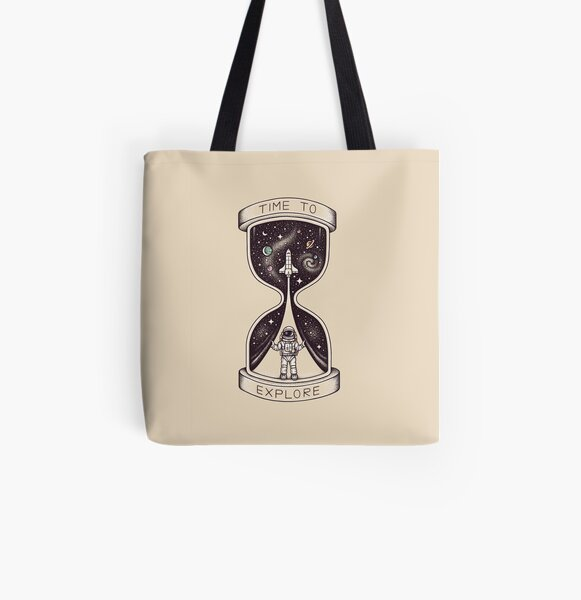 Time to Explore All Over Print Tote Bag