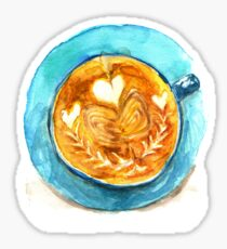 hearts and coffee Sticker