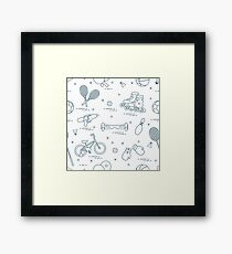 Equipment for sports activities for children. Framed Print
