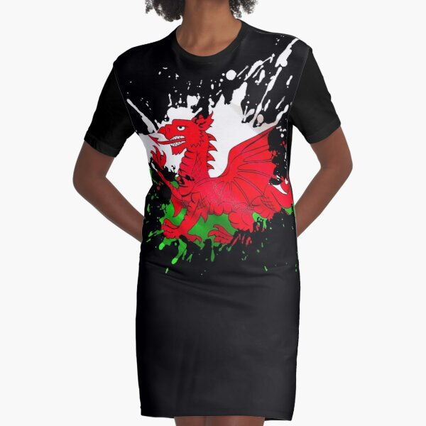 Wales Flag Graphic T-Shirt Dress