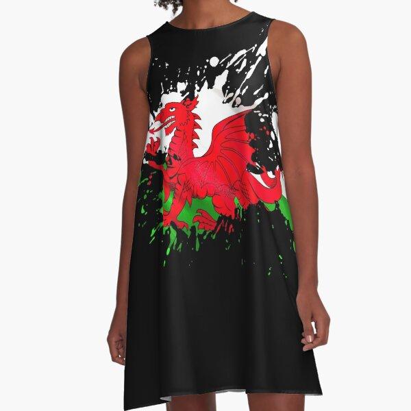 Wales Flag A-Line Dress