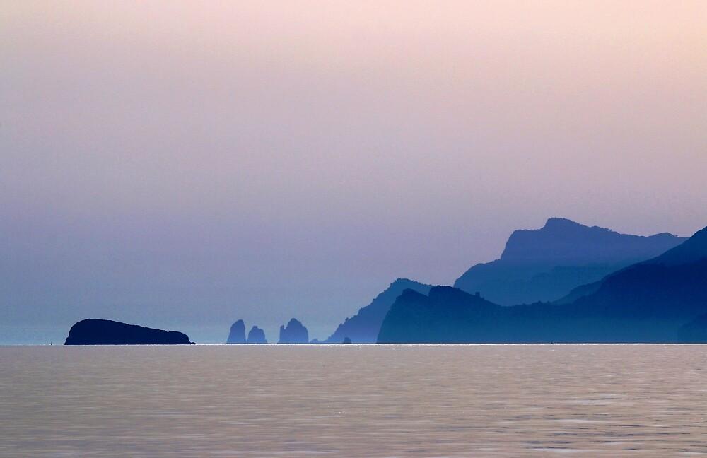 Amalfi Coast sunset by Adrian S. Lock