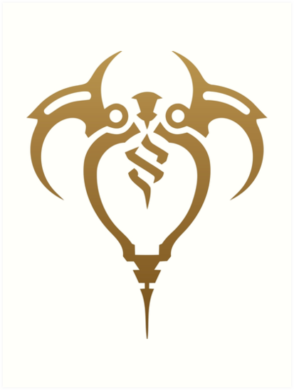 Zaun Crest League Of Legends Art Prints By An7onyo Redbubble