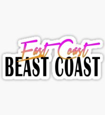 East Coast Beast Coast Sticker