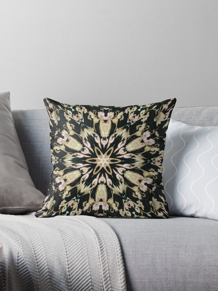 Tan and Black Starburst Pattern Graphic by nopemom