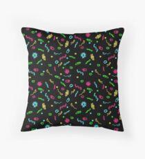 Fluorescent Microbes Throw Pillow