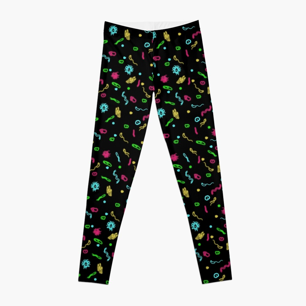 Fluorescent Microbes Leggings