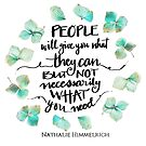What they can and what you need by Nathalie Himmelrich