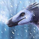 Snow raptor by UmbreoNoctie