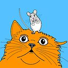 Cat & Mouse Pals  by Adam Regester
