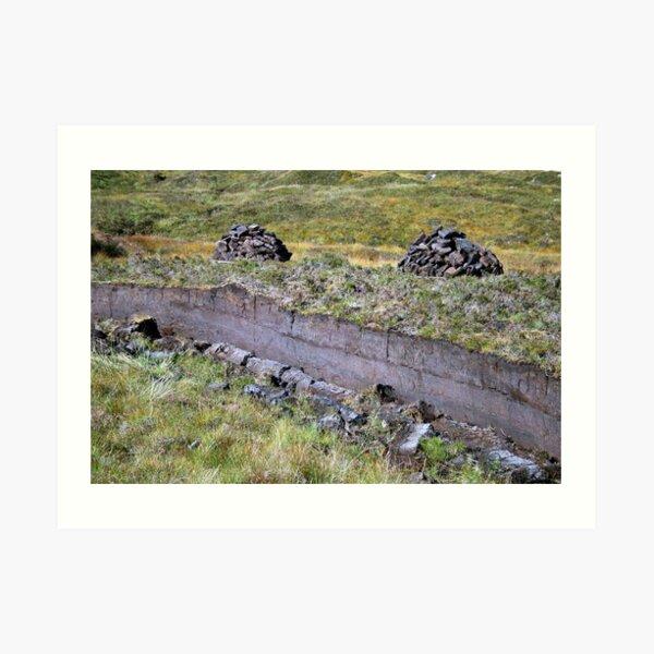 Peat-Stacks Art Print