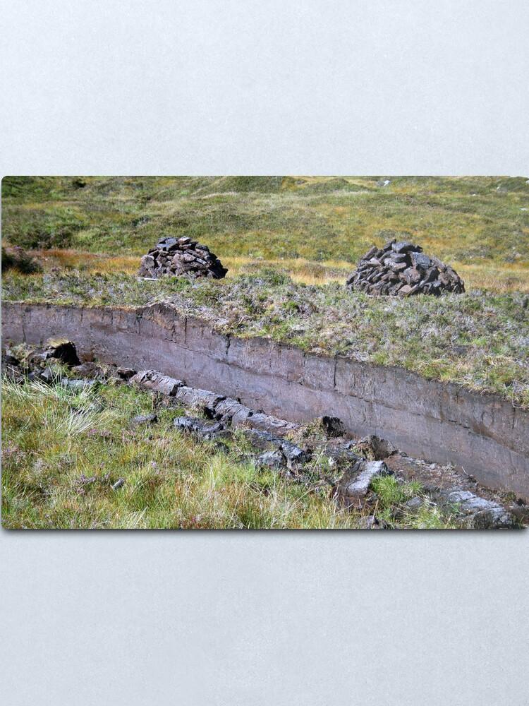 Alternate view of Peat-Stacks Metal Print