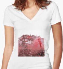 Allez, Allez, Allez - Liverpool FC Design - LFC Art Women's Fitted V-Neck T-Shirt