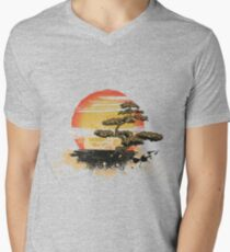 Japan art Mens V-Neck T-Shirt