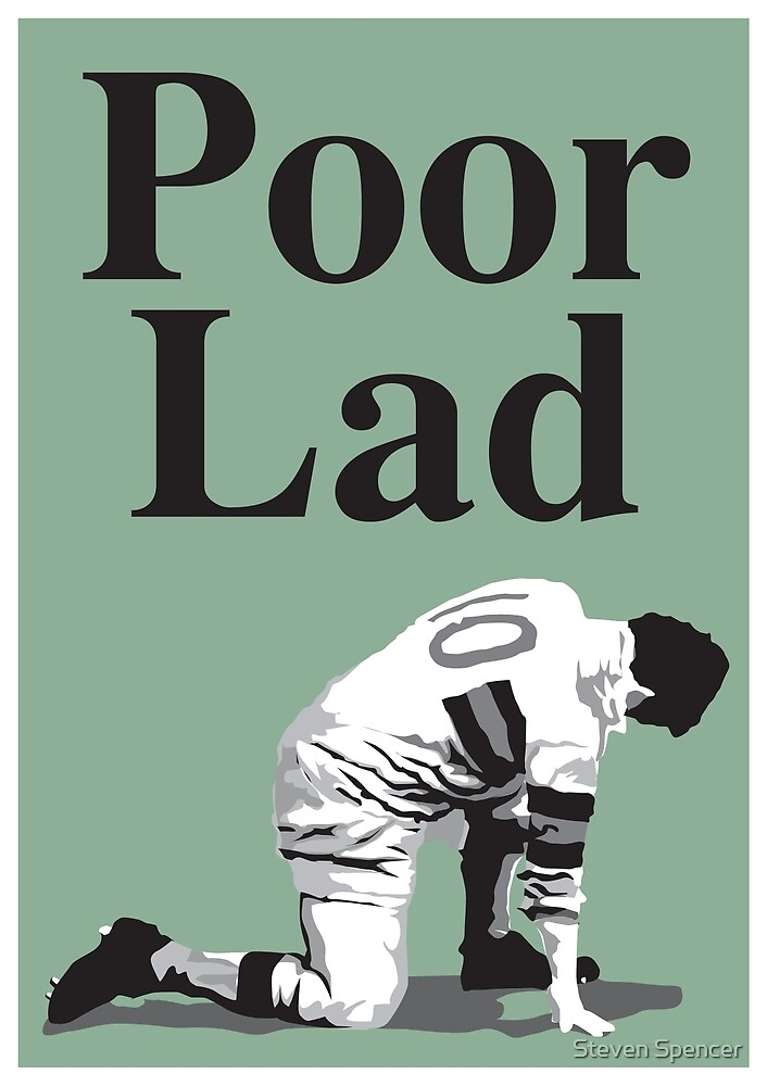 Poor Lad - Black Text by Steven Spencer