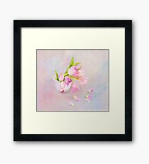 Pink & Purple Tulips And Tea Cup Framed Print