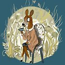 Get your coffee, deer by yvonne-crayon