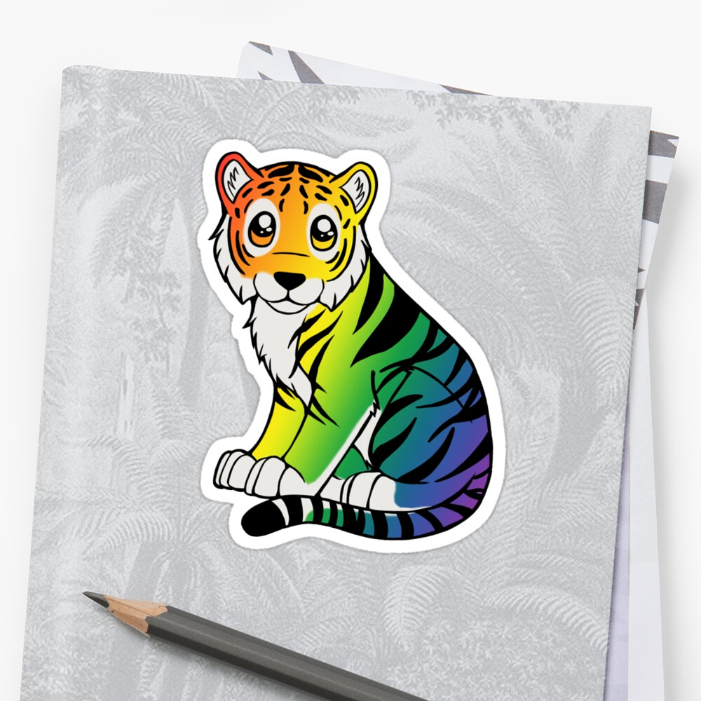 Rainbow Chibi Tiger by Shadow-Wing456