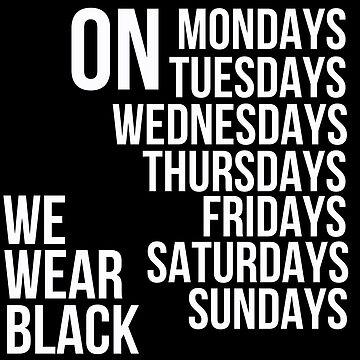 En todos los días usamos negro de MayaTauber