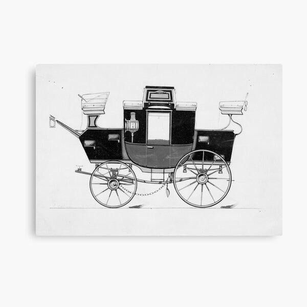 Vintage Horse Carriage Illustration (1877) Canvas Print