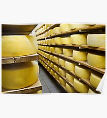 Cheese drying Poster