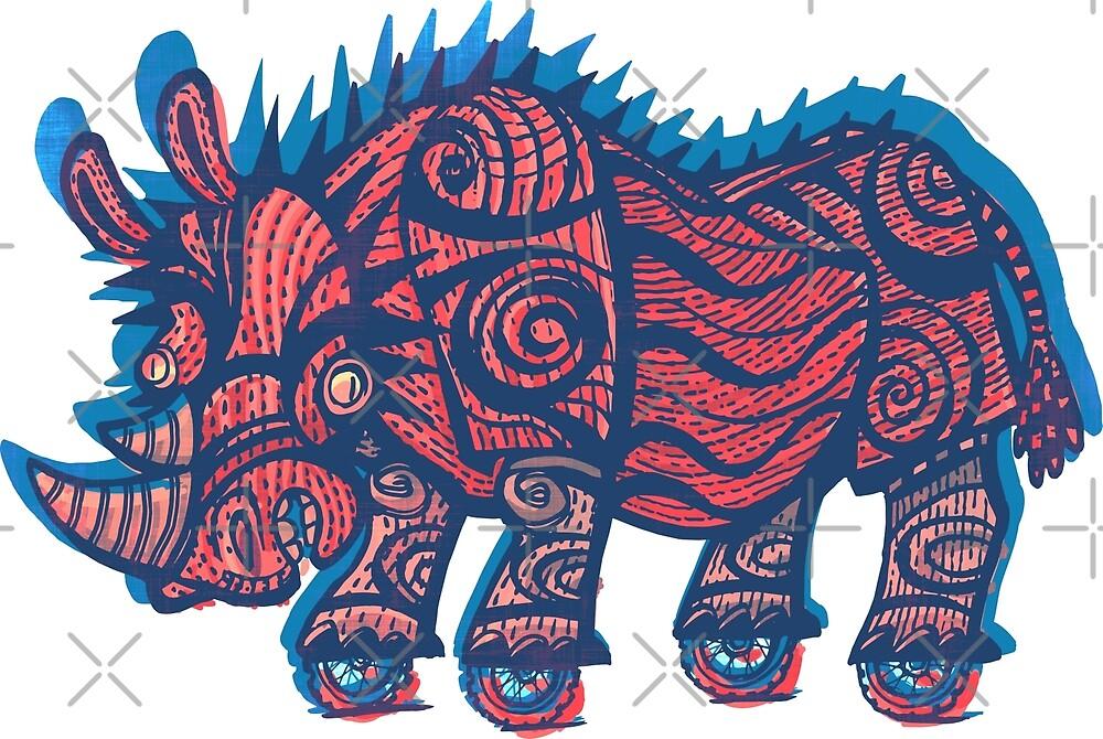 rhinoceros on wheels by duxpavlic