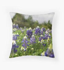 Blue Bonnets Throw Pillow