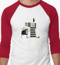 Musik Zebra Baseballshirt für Männer
