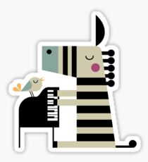 Music Zebra Sticker
