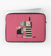 Music Zebra Laptop Sleeve