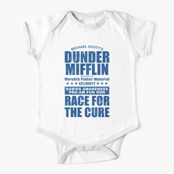 Dunder Mifflin Rabies Awareness Race for the Cure Short Sleeve Baby One-Piece